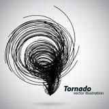 Tornado van krommen en spiralen Vector illustratie Stock Afbeeldingen