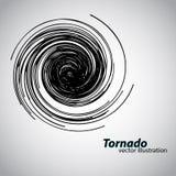 Tornado van krommen en spiralen Vector illustratie Royalty-vrije Stock Fotografie