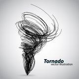 Tornado van krommen en spiralen Vector illustratie Stock Fotografie