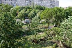 Tornado w mieście Minsk, republika Białoruś 13 07 2016 Zdjęcie Royalty Free