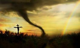 Tornado w polu uprawnym Zdjęcie Stock