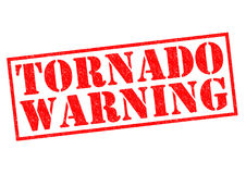 TORNADO WARNING Stock Image