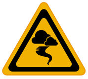 Tornado warning sign. On white background Royalty Free Stock Photo