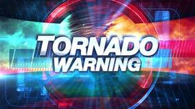Tornado-Warnung - Sendung Fernsehgraphiken betiteln lizenzfreie abbildung