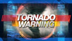 Tornado-Warnung - Titel-Grafik-Animation stock video footage