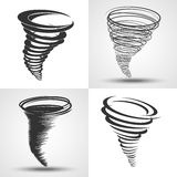 Tornado. Weather conditions symbols - natural disaster, hurrican Stock Image