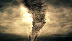 Tornado y animación de la tormenta 4K almacen de metraje de vídeo
