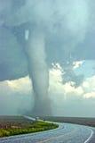Tornado y el granizo grande en la carretera 385 Imágenes de archivo libres de regalías
