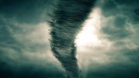 Tornado y tormenta ilustración del vector