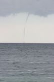 Tornadoes over the Sea Royalty Free Stock Photos