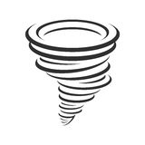 Tornadoes vector icon. Tornado icon. Whirlwind storm sign isolated on white background. Typhoon in the linear flat style. Vector illustration EPS 10 Stock Image