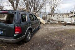 Tornadonachmahd in Henryville, Indiana Lizenzfreie Stockfotografie