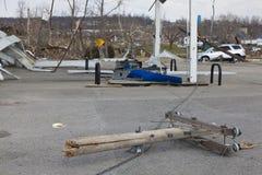 Tornadonachmahd in Henryville, Indiana Stockfoto