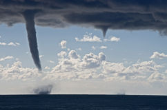Tornados over the mediterranean sea Royalty Free Stock Images