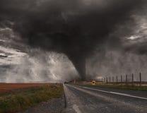 Tornadounfall concept Stockfoto