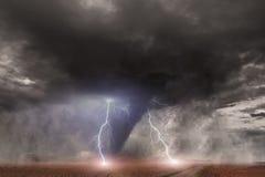 Tornadounfallkonzept stock abbildung