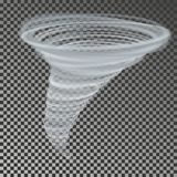 Tornadovector Transparant onweer twister De wind van de wervelingssnelheid stock illustratie