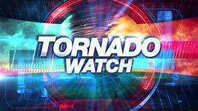 Tornadovorwarnung - Sendung Fernsehgraphiken betiteln lizenzfreie abbildung