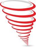 Tornadozeichen stock abbildung