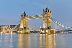 Tornbro på London, England Arkivbild