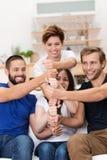 Tornbunt av händer och nävar Fotografering för Bildbyråer