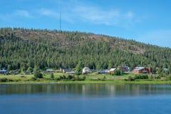 Torne河谷,瑞典 免版税库存照片
