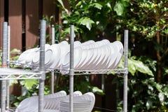 Torne côncavo secado e esterilizar com o exterior claro direto uv do sol fotos de stock royalty free
