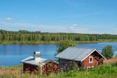 Torne rzeczna dolina, Szwecja Obrazy Stock