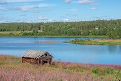 Torne rzeczna dolina, Szwecja Fotografia Stock