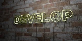 TORNE - Sinal de néon de incandescência na parede da alvenaria - 3D rendeu a ilustração conservada em estoque livre dos direitos ilustração royalty free