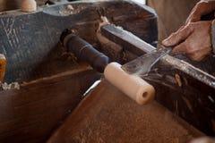 Torneado de madera Imagen de archivo libre de regalías