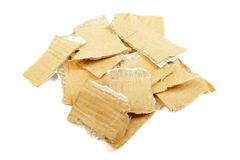 Torned cardboard isolated. Royalty Free Stock Images