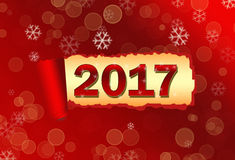 Torned paper Nev Year 2017 backround. Torned paper Nev Year red 2017 backround vector illustration