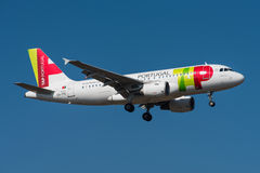 TORNEIRA - Air Portugal Airbus A319 Fotos de Stock Royalty Free
