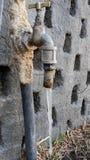 Torneira congelada Foto de Stock