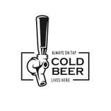 Torneira da cerveja com citações Ilustração do vintage do vetor Imagem de Stock Royalty Free