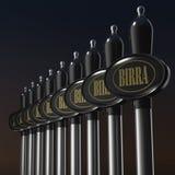 Torneira da cerveja de esboço no fundo preto Fotografia de Stock
