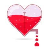 Torneira de Shapped do coração que goteja o amor pequeno Fotos de Stock Royalty Free