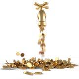 Torneira dourada Imagens de Stock