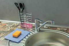 Torneira na cozinha Fotografia de Stock