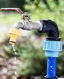 Torneira ou torneira que estão em um jardim Foto de Stock Royalty Free