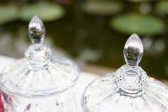 Torneira para a água do frasco plástico claro do galão imagem de stock royalty free