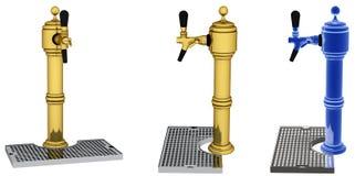 Torneiras de bronze da cerveja Fotografia de Stock Royalty Free