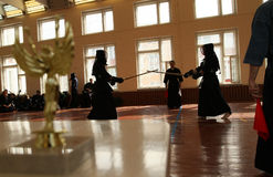Torneo aperto di Mosca su Kendo fotografia stock
