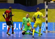 Torneo 2018 de calificación del euro de la UEFA Futsal en Kyiv Imagenes de archivo
