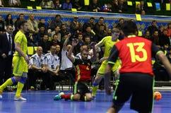 Torneo 2018 de calificación del euro de la UEFA Futsal en Kyiv Fotografía de archivo libre de regalías