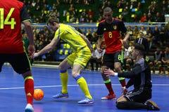Torneo 2018 de calificación del euro de la UEFA Futsal en Kyiv Fotos de archivo libres de regalías