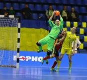 Torneo 2018 de calificación del euro de la UEFA Futsal en Kyiv Imagen de archivo libre de regalías