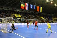 Torneo 2018 de calificación del euro de la UEFA Futsal en Kyiv Fotografía de archivo