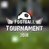 Torneo 2018 de Logo Football Imagenes de archivo